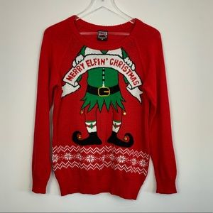 "Ugly Christmas Sweater ""Merry Elfin Christmas"""